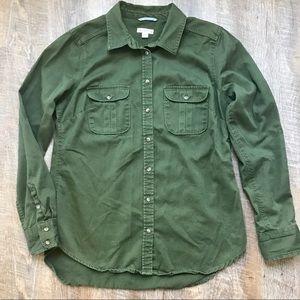 Merona sage green button down shirt
